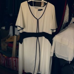 Black & White Plus Size Dress